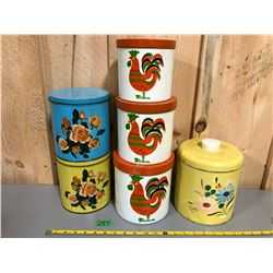 MISC VINTAGE KITCHEN CANISTERS