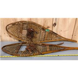 SNOW SHOES WITH LEATHER BINDINGS - SMALL SIZE
