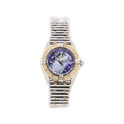 Breitling 0.50 ctw Diamond Callisto Wristwatch - Stainless Steel and 18KT Yellow