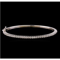 14KT White Gold 1.32 ctw Diamond Bangle Bracelet
