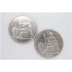 1907 & 1908 French Indo-China Crowns
