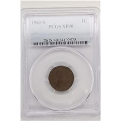 1931 S LINCOLN CENT PCGS XF