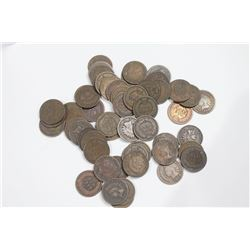50 Count Roll of Pre-1900 Circulated Indian Cents