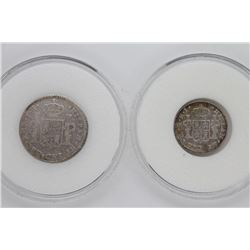 1805 & 1811 Mexico 1 & 1/2 Silver Reales