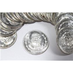 Bu Roll of 20 1967 Mexico Silver Un Peso