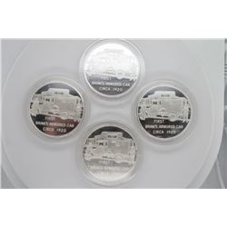 4 Count 1oz .999 Silver Brinks First Armored Car