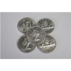 1955-1959 Uncirculated Canada Silver Dollars