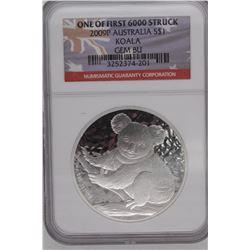2009 Australia $1 Koala Gem BU