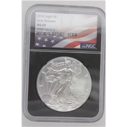 2018 American Silver Eagle Early Release NGC MS69
