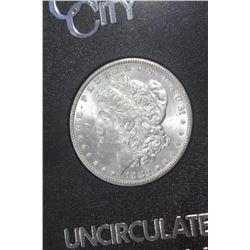 1882 CC Morgan Silver Dollar GSA Box/COA CH Unc.