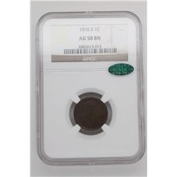 1916-S Lincoln Cent  NGC/CAC AU58 BN