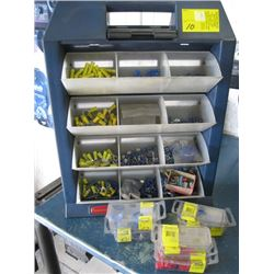 RUBBERMAID BOX WITH ASSORTED ELECTRICAL