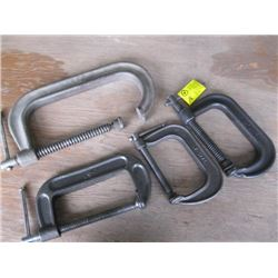 4 LARGE METAL C-CLAMPS