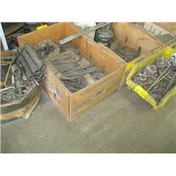 6 BOXS ASSORTED BOLTS, SPRINGS, ETC.