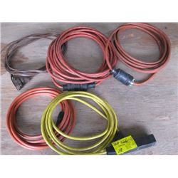 7 SMALL EXTENSION CORDS