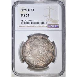 1890-O MORGAN DOLLAR, NGC MS-64