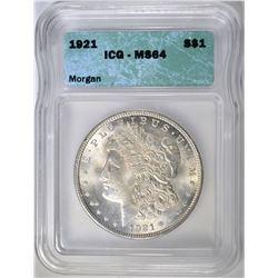 1921 MORGAN DOLLAR ICG MS64