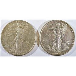 1935-D,S WALKING LIBERTY HALVES XF