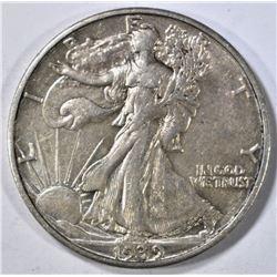 1939-S WALKING LIBERTY HALF AU