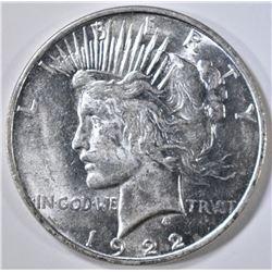 1922-D PEACE DOLLAR, CH BU