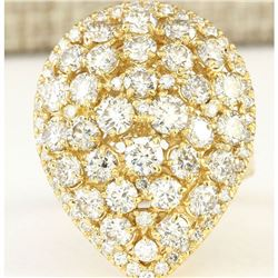 4.00 CTW Natural Diamond Ring In 14k Yellow Gold