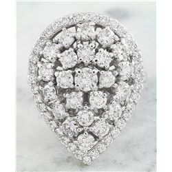 2.23 CTW Diamond 18K White Gold Ring