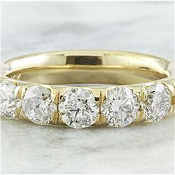 1.51 CTW Diamond 18K Yellow Gold Ring