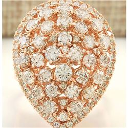 3.48 CTW Natural Diamond Ring In14k Solid Rose Gold