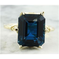 7.92 CTW Topaz 18K Yellow Gold Diamond Ring