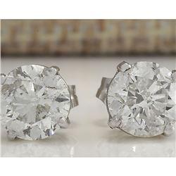 2.40 CTW Natural Diamond Earrings 14K Solid White Gold