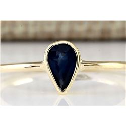0.52 CTW Natural Sapphire Ring In 18K Yellow Gold