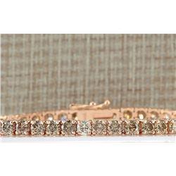 8.31 CTW Natural Diamond Bracelet In 18K Rose Gold