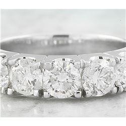 2.07 CTW Diamond 18K White Gold Ring