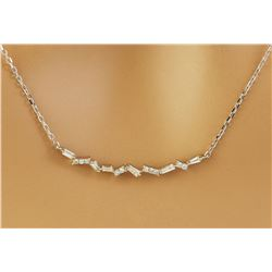 0.45 CTW Diamond 18K White Gold  Necklace