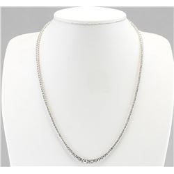 7.55 CTW Natural Diamond Necklace In 18K White Gold