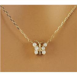 0.20 CTW Diamond 18K Yellow Gold Necklace