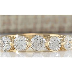 1.00 CTW Natural Diamond Ring In 18K Yellow Gold