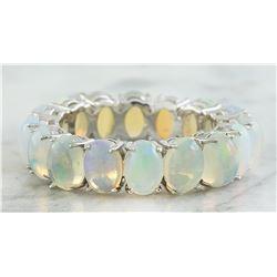 5.00 CTW Opal 18K White Gold Ring