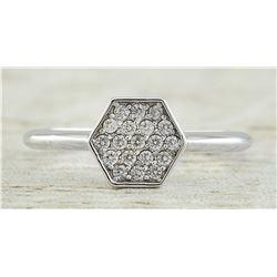 0.22 CTW 14K White Gold Diamond Ring