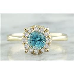 0.82 CTW Topaz 14K Yellow Gold Diamond Ring