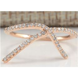 0.25 CTW Natural Diamond Ring 18K Solid Rose Gold
