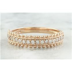 0.28 CTW Diamond 18K Rose Gold Ring
