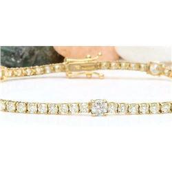 4.75 CTW Natural Diamond 14K Solid Yellow Gold Bracelet