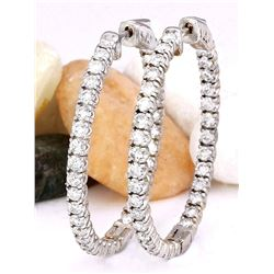 3.00 CTW Natural Diamond 14K Solid White Gold Earrings