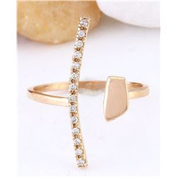 0.12 CTW Natural Diamond 18K Solid Rose Gold Ring