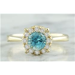 0.82 CTW Topaz 18K Yellow Gold Diamond Ring