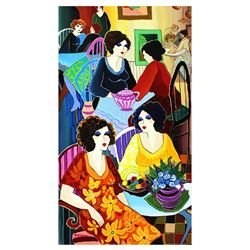 "Patricia Govezensky- Original Acrylic on Canvas ""In the Restaurant"""