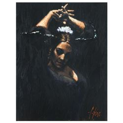 "Fabian Perez, ""Duende"" Hand Textured Limited Edition Giclee on Board. Hand Signed and Numbered."