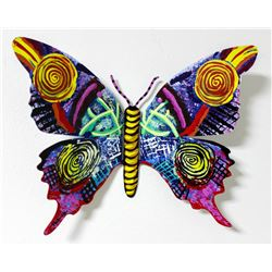 "Patricia Govezensky- Original Painting on Cutout Steel ""Butterfly CCXIV"""