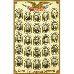 Antique / Vintage Postcard Presidents U.S.